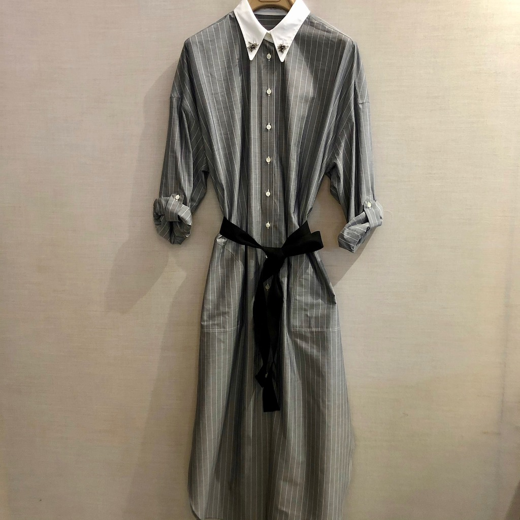 CUCINELLI Kleid STRIPES